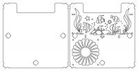 Схема крышки v.2.0 для аквариума Aquael Shrimp Set 30